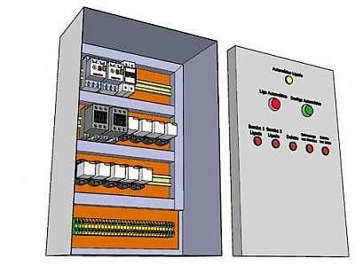 Montagem quadro de distribuição