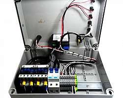 Instalação de quadro de distribuição elétrica